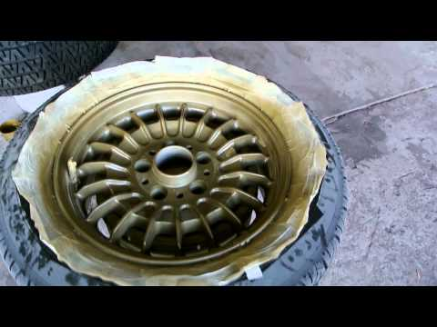 Behind the Scenes BMW 735i  Wheels BBS How to Redo Your Wheels Cheap Paint fix