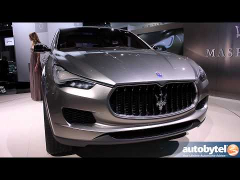 Maserati Kubang luxury crossover concept at the 2012 Detroit Auto Show Video
