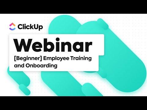 Onboarding & Training Webinar (Beginner) - YouTube