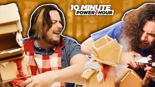 Building the TALLEST Gingerbread House! - Ten Minute Power Hour
