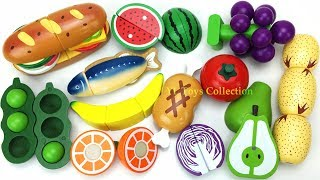 Fun Learning Names of Melon Peas Wooden Cutting Toys I Good Education videos for Kids