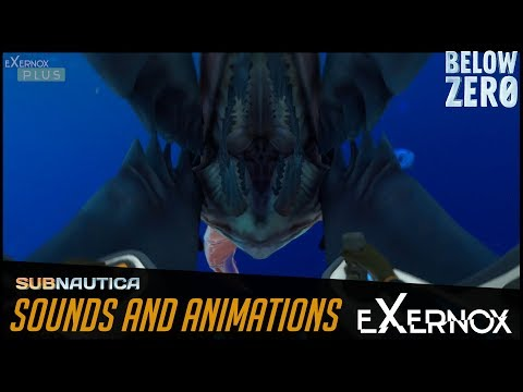 Subnautica Below zero - ice worms' animations from many