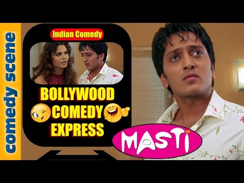 Riteish Deshmukh Comedy Scene {HD} | Bollywood Comedy Express | Masti | Indiancomedy (видео)