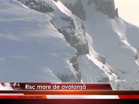 Risc mare de avalanşe