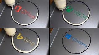 Microsoft Logo Pancake Art - Office, XBOX, bing, Windows