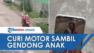 Emak-emak di Mojokerto Nekat Curi Motor Sambil Gendong Bayinya Berusia 2 Tahun, Pura-pura Cari Kos