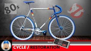 Raleigh Panasonic Bicycle Fixed Wheel Restoration