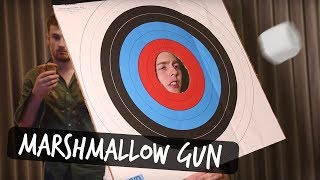 THE MARSHMALLOW GUN CHALLENGE