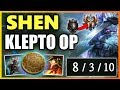 HOW TO ABUSE KLEPTO WITH SHEN Season 9 Shen Top vs Udyr Gameplay Unranked to Challenger EP 2