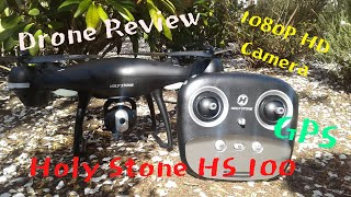 Holy Stone HS 100 Review/ Flight Footage- Very good Beginner GPS Drone with cool features!