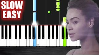 Gambar cover Beyoncé - Halo - SLOW EASY Piano Tutorial by PlutaX
