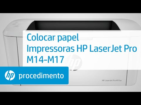 Como colocar papel nas impressoras HP LaserJet Pro M14-M17