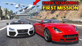 GTA 5 First Mission... But, Every 30 Seconds a CARGO PLANE will Crash !