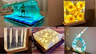 5 einzigartige Epoxidharz LED Lampen / DIY