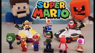 Super Mario Bros K'nex Series 10 Knex Building Block Blind Bag Action figures Case Unboxing
