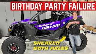 Oops: I DESTROYED My Can-Am Axles At My Nephews BIRTHDAY PARTY