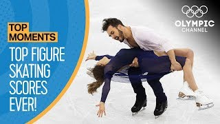 Highest Ever Olympic Figure Skating Scores Top Moments Video