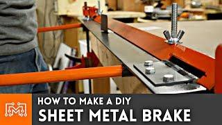 How to make a DIY sheet metal brake | I Like To Make Stuff