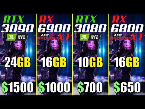 3090 vs 6900XT vs 3080 vs 6800XT 四張顯卡比較