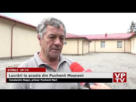Lucrări la școala din Puchenii Moșneni