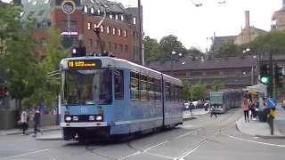 preview picture of video 'Tram in Oslo - Trikken i Oslo - Straßenbahn in Oslo'