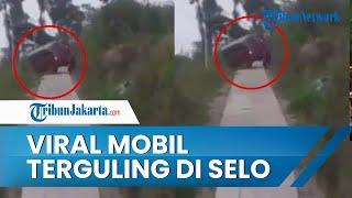 Pakai Google Maps Berujung Petaka, Mobil Terguling di Jalan Menanjak Selo Boyolali