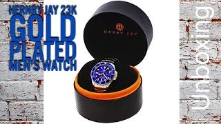 Henry Jay 23k Gold Plated Men's Watch Unboxing