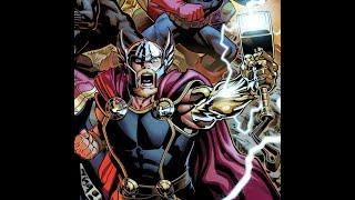 The Avengers Return - Thor with Golden Mjolnir