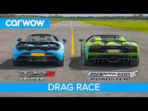 Lamborghini Aventador S Roadster vs McLaren 720S Spider - DRAG RACE, ROLLING RACE & BRAKE TEST