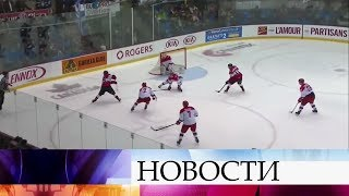 Молодежная сборная России по хоккею выиграла Суперсерию-2018.