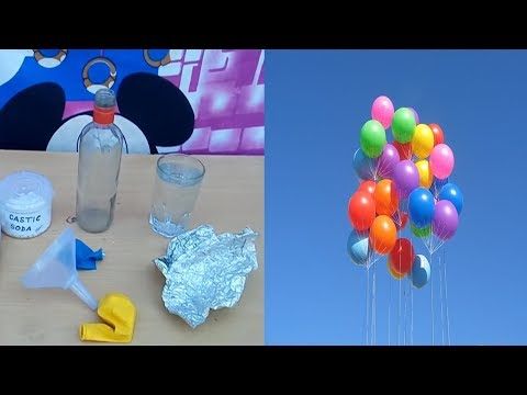 How to make hydrogen ges flying balloons at home with soda