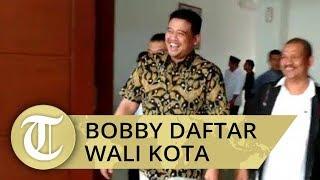 Datangi DPP PDIP Medan, Bobby Nasution Daftar Bakal Calon Wali Kota Medan