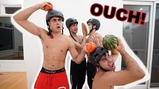 SMASH IT WITH YOUR HEAD CHALLENGE! (super funny)