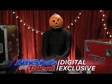 The Dancing Pumpkin Man Chats About His Spontaneous Dance Moves - America's Got Talent 2017