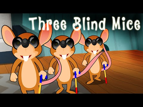 Three Blind Mice English Nursery Rhyme Song For Children With Lyrics - 3 Blind Mice Mp3