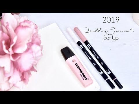 2019 Bullet Journal Set Up - flip through (ITA)