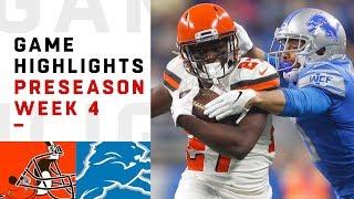 Browns vs. Lions Highlights | NFL 2018 Preseason Week 4