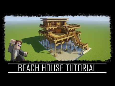 Easy to build Beach House Tutorial + Schematic Minecraft Project