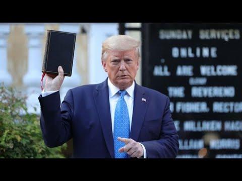 "Trump Says Biden Will ""Hurt The Bible"" And ""Hurt God"""