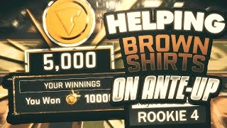 HELPING ROOKIES EARN VC ON THE ANTE-UP!! NBA 2K17 BROWN SHIRTS GET A SERIOUS SURPRISE!!!