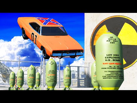 EXPERIMENT - Cars vs Nuclear Bombs 12 - BeamNG Drive   CrashTherapy