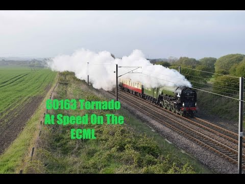 LNER A1 60163 'Tornado' at Speed on the ECML working 'The He…
