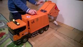 Bruder 3560 scania garbage truck - play guide - incinerator
