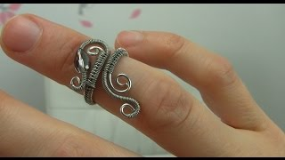 Wire Wrap Wrapped Adjustable Ring Tutorial Demo (Midi, Knuckle Ring)