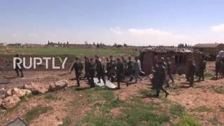 Syria: Syrian Army inspects damaged Shayrat airbase - Video Youtube