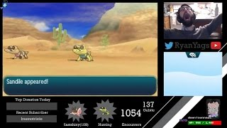 Sandile  - (Pokémon) - BRUTAL HUNT ends with a shiny Sandile in Pokemon Sun and Moon