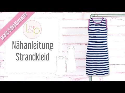 Nähanleitung Strandkleid Damen &Kinder - kostenloses Schnittmuster auch als Top & Maxikleid zu nähen