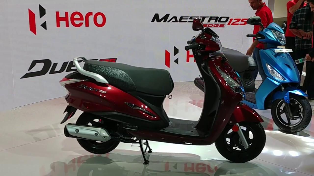 Motoroctane Youtube Video - Hero Duet 125 / Destini 125 Walkaround in Hindi | MotorOctane | Auto Expo 2018