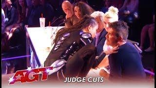 Marina Mazepa: Girl FREAKS Out Simon Cowell With STUNNING Body Moves! | America's Got Talent 2019