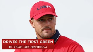 Bryson DeChambeau drives first green and makes eagle   Singles Match   2020 Ryder Cup